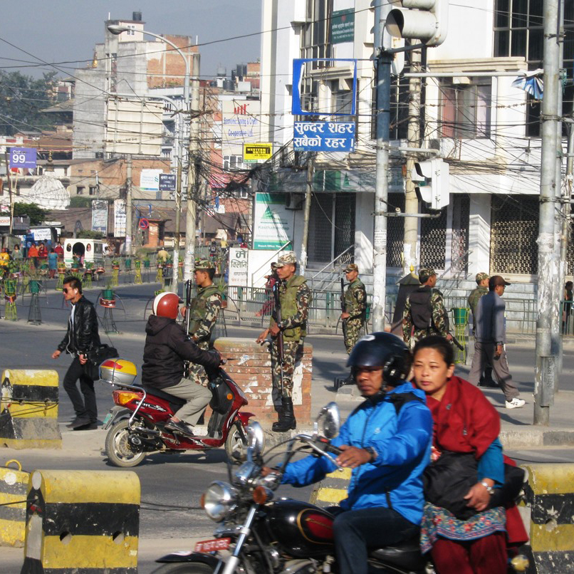 Nepal's traffic-less streets during the days leading up to the election.