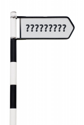 Question Mark Signpost