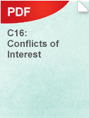 C16 Conflicts of Interest