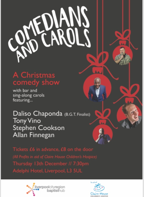 Comedians and Carols poster